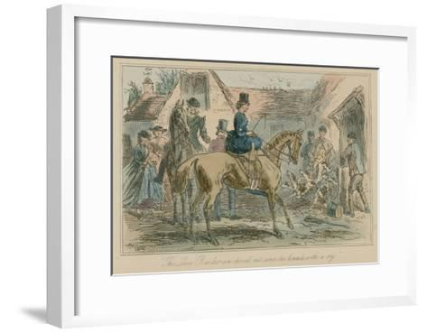 The Loose Barn Door Was Opened, Out Came the Hounds with a Cry-Hablot Knight Browne-Framed Art Print