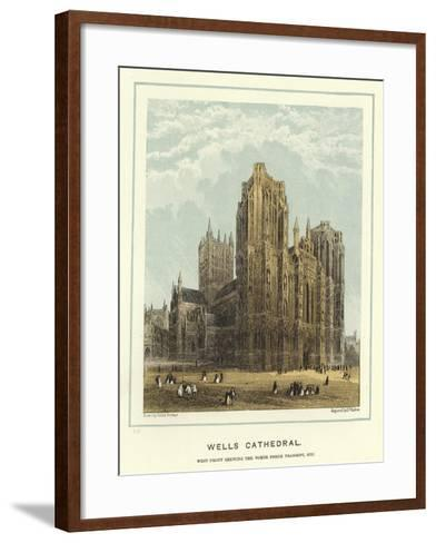 Wells Cathedral, West Front Showing the North Porch Transept, Etc-Hablot Knight Browne-Framed Art Print