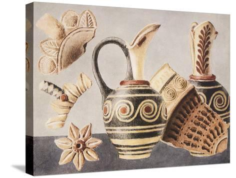 Decorated Vases from Knossos, 1921-Sir Arthur Evans-Stretched Canvas Print