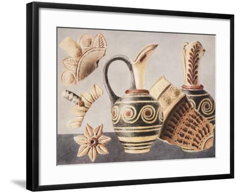 Decorated Vases from Knossos, 1921-Sir Arthur Evans-Framed Art Print