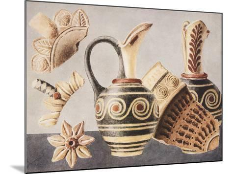 Decorated Vases from Knossos, 1921-Sir Arthur Evans-Mounted Giclee Print