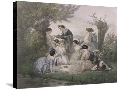 Breakfast in the Spring, Engraved by Regnier, Bettannier and Morlon-A. de Beaumont-Stretched Canvas Print