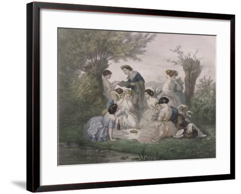 Breakfast in the Spring, Engraved by Regnier, Bettannier and Morlon-A. de Beaumont-Framed Art Print