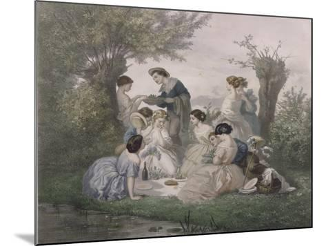 Breakfast in the Spring, Engraved by Regnier, Bettannier and Morlon-A. de Beaumont-Mounted Giclee Print