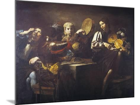 Musicians and Soldiers, Circa 1626-Valentin de Boulogne-Mounted Giclee Print