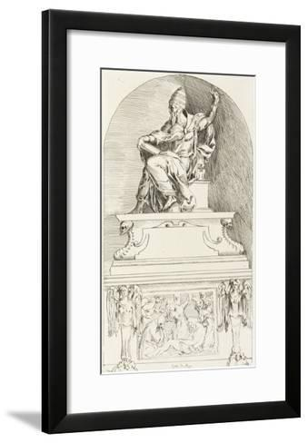 Study for the Tomb of Pope Clement VII, after Baccio-Anne-Claude-Philippe de Caylus-Framed Art Print
