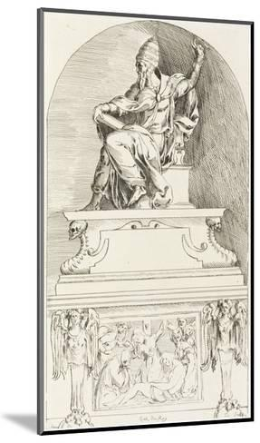 Study for the Tomb of Pope Clement VII, after Baccio-Anne-Claude-Philippe de Caylus-Mounted Giclee Print