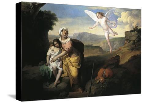 Hagar and Ishmael Visited by Angel, Circa 1846-Francesco Coghetti-Stretched Canvas Print