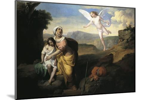 Hagar and Ishmael Visited by Angel, Circa 1846-Francesco Coghetti-Mounted Giclee Print