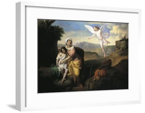 Hagar and Ishmael Visited by Angel, Circa 1846-Francesco Coghetti-Framed Art Print