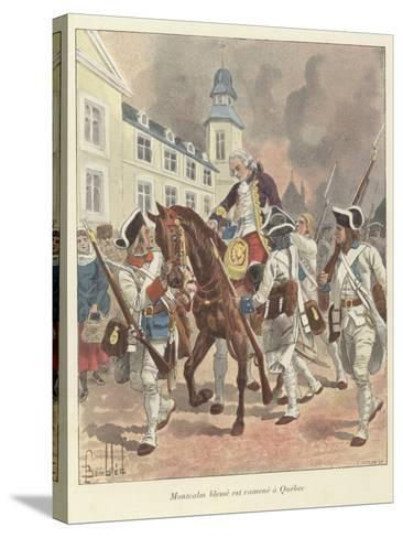 The Wounded General Montcalm Is Brought Back to Quebec, 1759-Louis Charles Bombled-Stretched Canvas Print