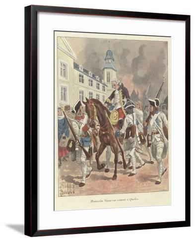 The Wounded General Montcalm Is Brought Back to Quebec, 1759-Louis Charles Bombled-Framed Art Print