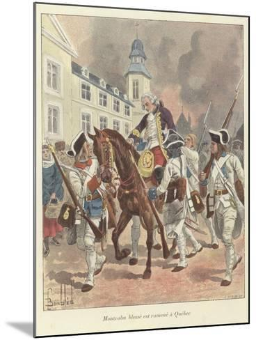 The Wounded General Montcalm Is Brought Back to Quebec, 1759-Louis Charles Bombled-Mounted Giclee Print
