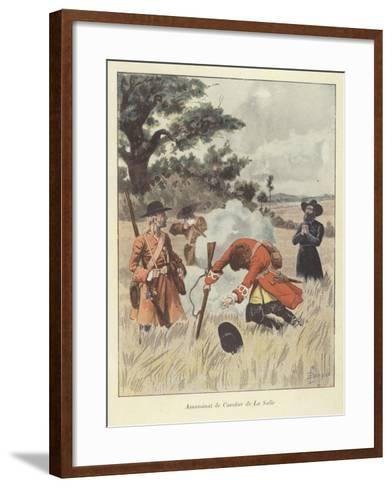 The Killing of Rene-Robert Cavelier De La Salle, 1687-Louis Charles Bombled-Framed Art Print