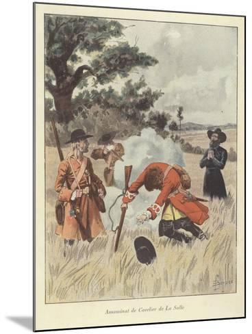 The Killing of Rene-Robert Cavelier De La Salle, 1687-Louis Charles Bombled-Mounted Giclee Print