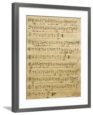 Handwritten Score for Bass of Mass for Three Voices-Tomaso Albinoni-Framed Art Print