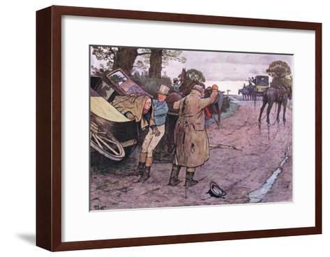 """Love to Tuppy, Won't You Get Up Behind?-""""Drive on Boys"""" Replied Jingle-Cecil Aldin-Framed Art Print"""