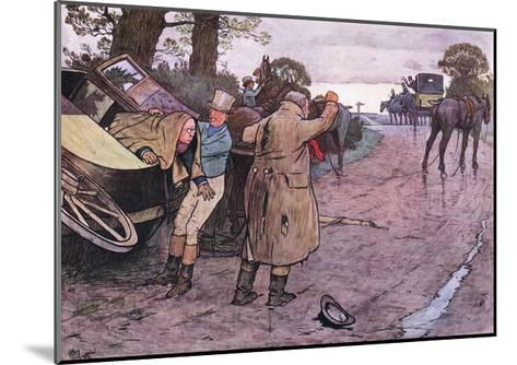 """Love to Tuppy, Won't You Get Up Behind?-""""Drive on Boys"""" Replied Jingle-Cecil Aldin-Mounted Giclee Print"""