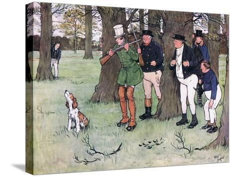 """""""Bless My Soul!"""" Said Mr Winkle, """"I Declare I Forgot the Cap""""-Cecil Aldin-Stretched Canvas Print"""