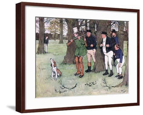 """Bless My Soul!"" Said Mr Winkle, ""I Declare I Forgot the Cap""-Cecil Aldin-Framed Art Print"