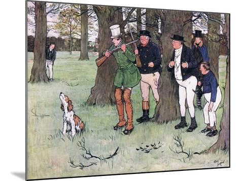 """""""Bless My Soul!"""" Said Mr Winkle, """"I Declare I Forgot the Cap""""-Cecil Aldin-Mounted Giclee Print"""