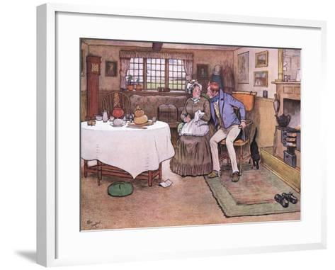 She Looked Up at Toms Face and Smiled Through Her Tears-Cecil Aldin-Framed Art Print