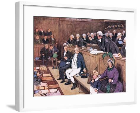 """""""Gentlemen, What Does This Mean? Chops and Tomato Sauce, Yours Pickwick!""""-Cecil Aldin-Framed Art Print"""