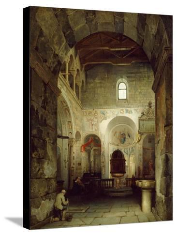 The Ancient Gravedona Baptistery, 1857-Luigi Bisi-Stretched Canvas Print