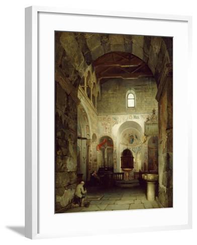 The Ancient Gravedona Baptistery, 1857-Luigi Bisi-Framed Art Print