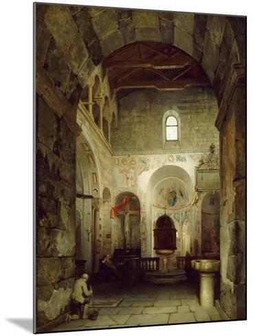 The Ancient Gravedona Baptistery, 1857-Luigi Bisi-Mounted Giclee Print