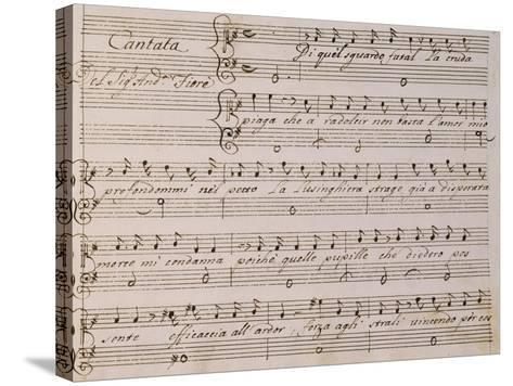 Music Score from Song on Princess Amelia-Giovanni Bononcini-Stretched Canvas Print