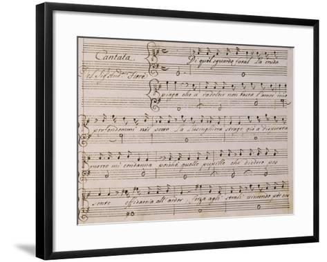 Music Score from Song on Princess Amelia-Giovanni Bononcini-Framed Art Print
