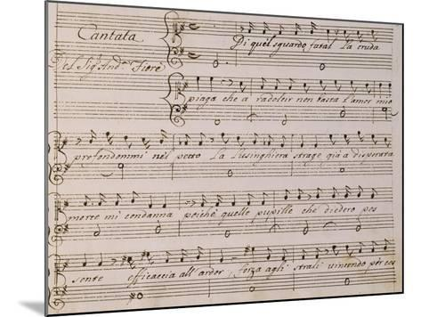 Music Score from Song on Princess Amelia-Giovanni Bononcini-Mounted Giclee Print