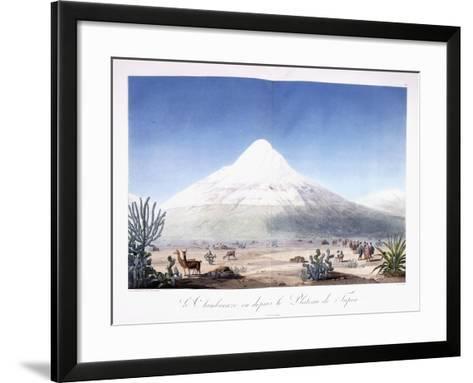 Le Chimborazo Vu Depuis Le Plateau De Tapia, 1810-1814-Friedrich Alexander-Framed Art Print