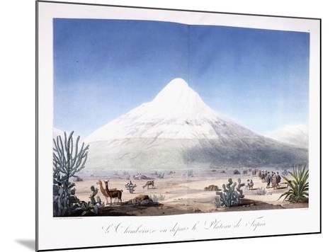 Le Chimborazo Vu Depuis Le Plateau De Tapia, 1810-1814-Friedrich Alexander-Mounted Giclee Print