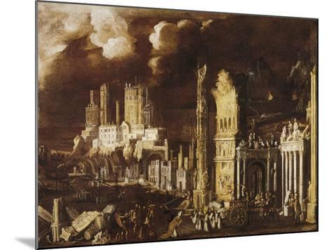 Martyrdom of San Gennaro in Pozzuoli Amphitheater-Didier Barra-Mounted Giclee Print