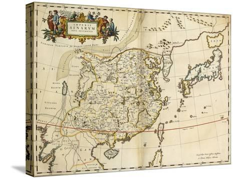 Map of China, from 'Atlas Maior Sive Cosmographia Blaviana', 1662-Joan Blaeu-Stretched Canvas Print