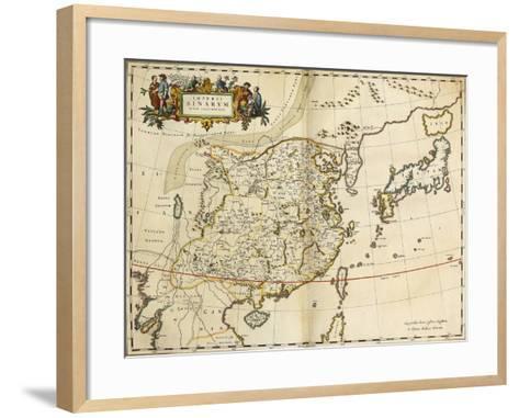 Map of China, from 'Atlas Maior Sive Cosmographia Blaviana', 1662-Joan Blaeu-Framed Art Print