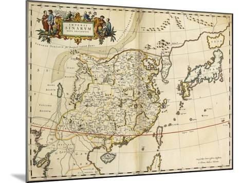 Map of China, from 'Atlas Maior Sive Cosmographia Blaviana', 1662-Joan Blaeu-Mounted Giclee Print