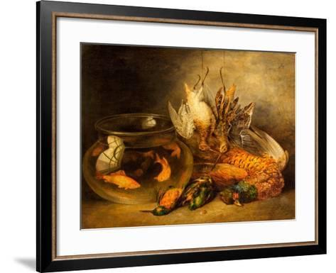 Still Life, Game and Hanging Snipe with Goldfish in a Bowl-Benjamin Blake-Framed Art Print