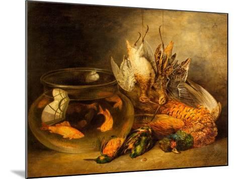 Still Life, Game and Hanging Snipe with Goldfish in a Bowl-Benjamin Blake-Mounted Giclee Print