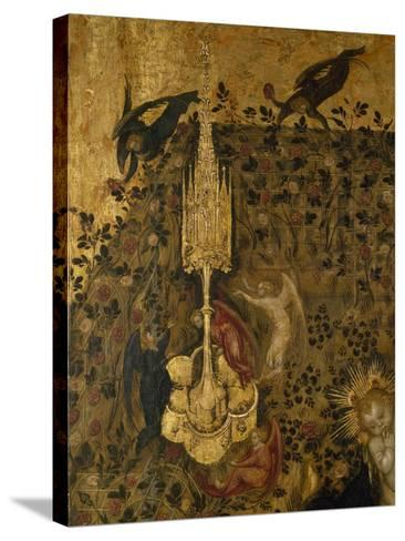 Madonna of the Rose Garden, 1420-1435-Stefano  da Verona-Stretched Canvas Print