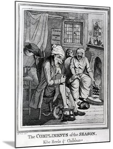 The Compliments of the Season, Kibe Heels and Chillblains, C.1785-Henry William Bunbury-Mounted Giclee Print