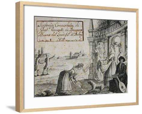 Title Page of Sinfonia Concertata, 1816-Gaetano Donizetti-Framed Art Print