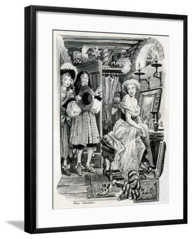 King Charles II Visiting Nell Gwynn in Her Dressing Room-Peter Jackson-Framed Art Print