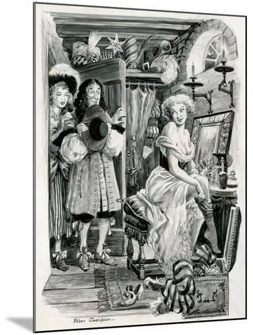 King Charles II Visiting Nell Gwynn in Her Dressing Room-Peter Jackson-Mounted Giclee Print