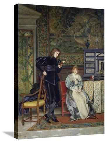 Sixteenth Century Interior Scene-Odoardo Gelli-Stretched Canvas Print