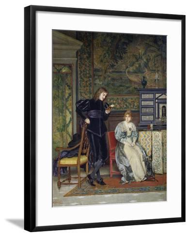 Sixteenth Century Interior Scene-Odoardo Gelli-Framed Art Print