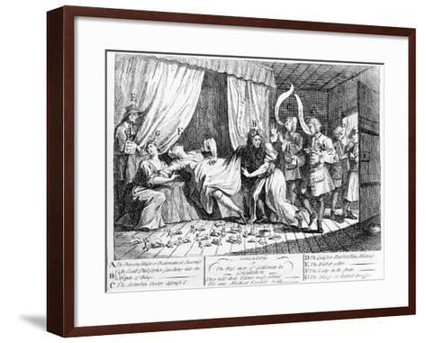 Cunicularii or the Wise Men of Godliman in Consultation, 1726-William Hogarth-Framed Art Print