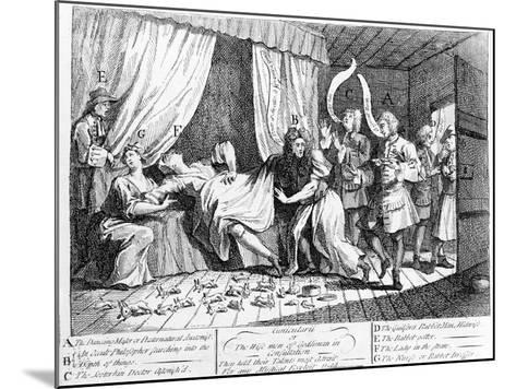 Cunicularii or the Wise Men of Godliman in Consultation, 1726-William Hogarth-Mounted Giclee Print